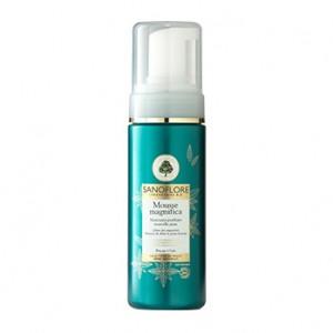 Sanoflore Mousse Magnifica - 150 ml Nettoyant purifiant nouvelle peau Libère des impuretés Illumine & affine le grain de peau Rinçage à l'eau Tous types de peaux même sensibles