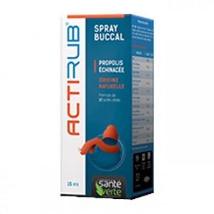 Santé Verte ActiRub - Spray Buccal 15 ml Propolis / échinacée Origine naturelle Formule de 12 actifs ciblés