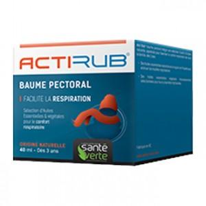 Santé Verte ActiRub - Baume Pectoral 40 ml Facilite la respiration Origine naturelle Dès 3 ans