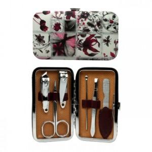 Set Manucure Set Manucure Fleurs Rouges Existe en différentes coloris 6 accessoires