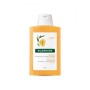 Klorane - Shampooing Traitant Nutritif au Beurre de Mangue - Cheveux Secs Abîmés - 200 ml