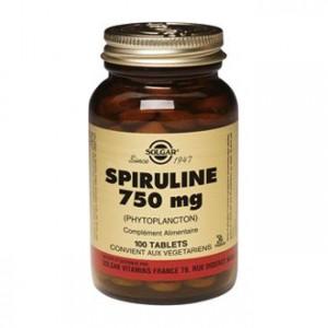 Solgar Spiruline 750 mg 100 Tablets Complément alimentaire riche en protéines Super aliment Pour adulte