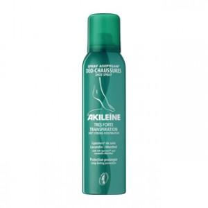 Akileine Spray Aseptisant Déo Chaussures 150 ml Pieds à très forte transpiration sujets aux mycoses, odeurs désagréables