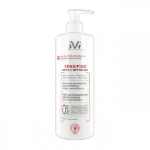SVR Sensifine - Dermo-Nettoyant 400 ml Nettoyant démaquillant apaisant intense Pour peaux réactives et intolérantes Visage, yeux et lèvres Agent hydratant + niacinamide