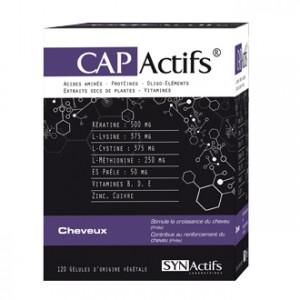 SYNActifs CapActifs Cheveux 120 Gélules Complément alimentaire pour la croissance et la protection des cheveux et des ongles