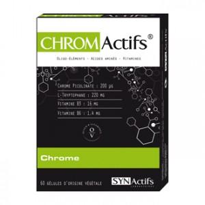 SYNActifs CHROMActifs  Chrome 60 Gélules Le chrome à l'état pur