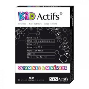 SYNActifs KidActifs Vitamines et Minéraux 30 Gélules Gélule sprinkle à ouvrir Un cocktail de vitamines et minéraux pour votre enfant