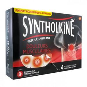 Synthol Patch Chauffant SyntholKiné Douleurs Musculaires 4 Patchs Spécial bas du dos