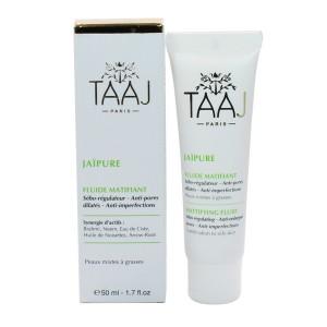 taaj-jaipure-fluide-matifiant-debo-regulateur-anti-pores-dilates-anti-imperfections-peaux-mixtes-a-grasses-hygiene-beaute-hyperpara