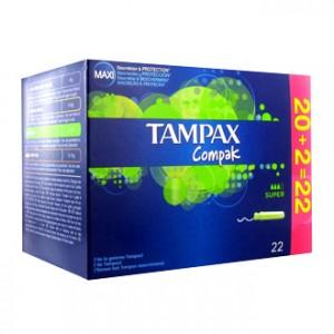 tampax tampax compak super 22 tampons