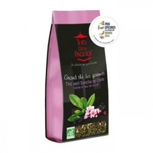 Thé de la Pagode Grand thé des Gourmets - Thé Vert Sencha de Chine Vanille & Fleur de Cerisier 110g