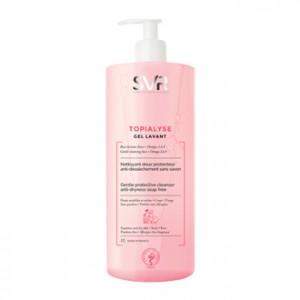 SVR Topialyse - Gel Lavant 1L Nettoyant doux protecteur Anti-dessèchement Sans savon Corps et visage Pour toute la famille