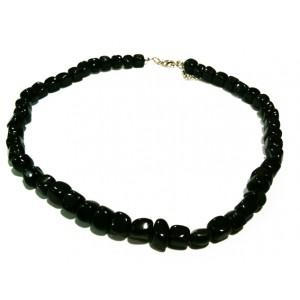 Collier Tourmaline Noire Perles Rondes