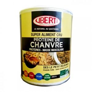 Uberti's Poudre de Protéine de Chanvre BIO 200g A prendre dès le petit-déjeuner ! Poudre pures, sans sucres ajoutés Protéines, masse musculaire