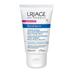 Uriage Bariéderm - Crème Mains Isolante Réparatrice - 50 ml Répare Protège Nourrit Mains abimées, sècheresses extrêmes Résistante à l'eau 3661434004728