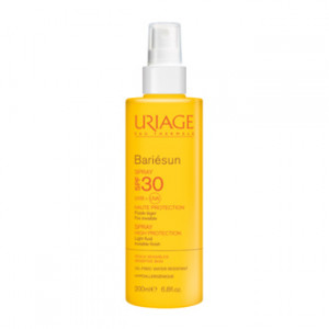 uriage bariésun spray spf 30 très haute protection peaux sensibles fluide léger fini invisible water resistant