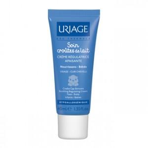 Uriage Bébé Soin Croûtes de Lait - Crème Régulatrice et Apaisante 40 ml
