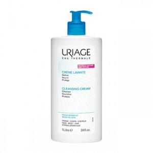 Uriage Crème Lavante - Surgras Moussant Sans Savon 1L Nettoie, nourrit et protège Peaux sensibles Visage, corps et cheveux