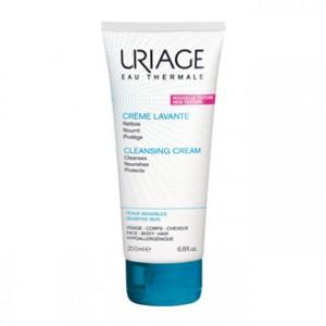 Uriage Crème Lavante 200 ml NOUVELLE TEXTURE Nettoie, nourrit et protège Pour peaux sensibles Visage, corps et cheveux Hypoallergénique et sans savon