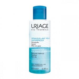 Uriage Démaquillant Yeux Waterproof 100 ml Démaquillant yeux et lèvres Biphasé Apaise et effet non gras