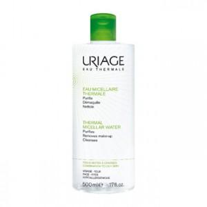 Uriage Eau Micellaire Thermale 500 ml Peaux Mixtes à Grasses Purifie, démaquille et nettoie Peaux mixes à grasses Visage, yeux