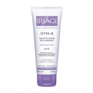 Uriage Gyn-phy - Gyn-8 Gel Apaisant 100 ml Toilette intime Muqueuse irritées pH8 Sans savon, sans paraben Hypoallergénique