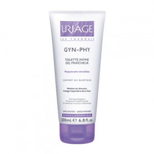 Uriage Gyn-Phy - Gel Fraîcheur 200 ml Toilette intime Confort au quotidien Nettoie en douceur Sans savon, sans paraben Hypoallergénique