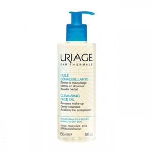 Uriage Huile Démaquillante 150 ml Elimine le maquillage, nettoie en douceur et réveille l'éclat Peaux normales à sèches Visage, yeux