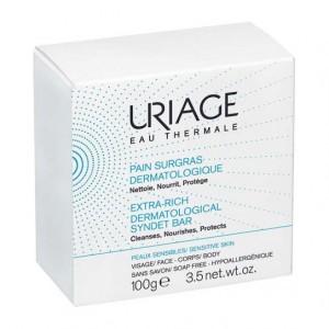 Uriage Pain Surgras Dermatologique - 100gr Nettoie, nourrit, protège Peau sensible Visage et corps Hypoallergénique 3661434003844