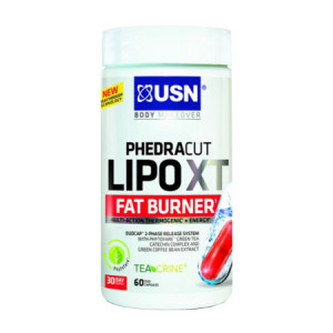 USN Phedracut LipoXT Fat Burner - 60 Duo-Capsules 30 jours Multi-action thermogénique Capsules double phase