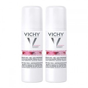 vichy lot de 2 déodorants anti-transpiration 48 heures spray hygiene