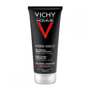 Vichy Homme Hydra Mag C Gel Douche Corsp et Cheveux 200 ml