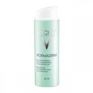 Vichy Normaderm - Soin Embelisseur Anti - Imperfections Hydratation 24H 50 ml Pour peau sensible Hypoallergénique Sans paraben Soin jour
