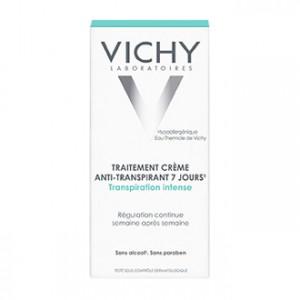Vichy Traitement Anti-Transpirant 7 Jours Crème 30 ml Régulation continue semaine après semaine Sans alcool et sans paraben