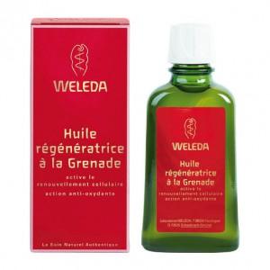 Weleda Huile Régénératrice à la Grenade - 100 ml Active le renouvellement cellulaire Action anti-oxydante