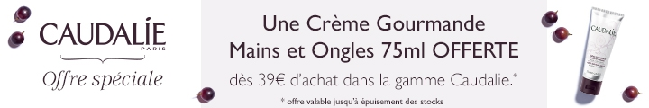 Caudalie pour 39€ d'achat une crème mains & ongles 75 ml OFFERTE !