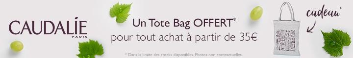 Caudalie pour 35€ d'achat un TOTE BAG OFFERT !