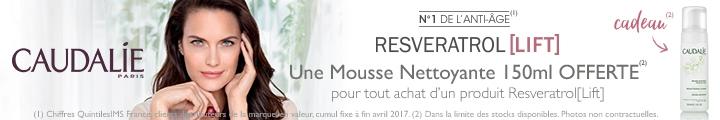 Caudalie Resveratrol Lift Mousse Nettoyante OFFERTE !