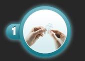 Utilisation du pansement ampoule de compeed étape 1