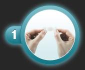 Utilisation du patch pansement oignon de compeed étape 1
