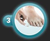 Utilisation du patch pansement oignon de compeed étape 3